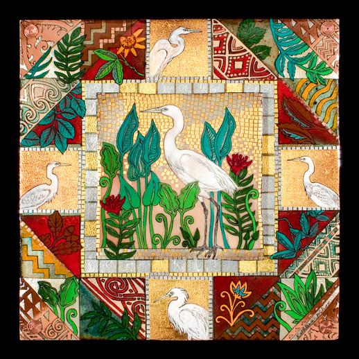 Floridance Quilt: Egret