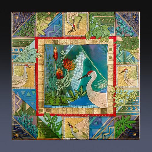 Floridance Quilt: Sandhill Cranes