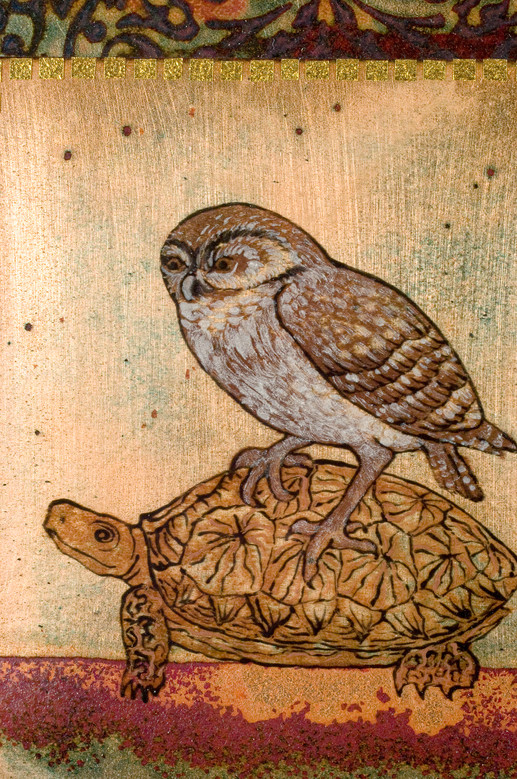 Avé Owl and Tortoise (Detail)