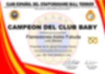 Campeón Baby del CESBT 2018