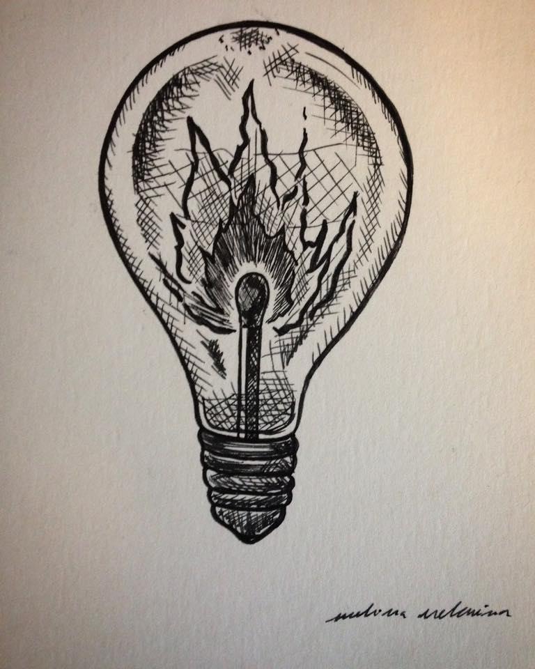 Ampoule on fire