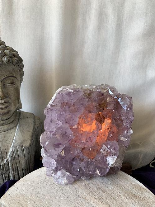 Purple Geode Lamp