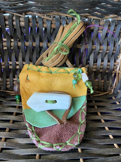Miniature Handmade Native American Medicine Bags