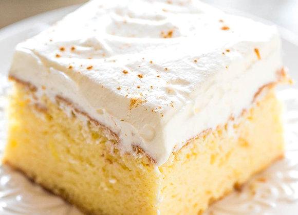Coconut Milk Tres Leches Cake ~ Serves 1
