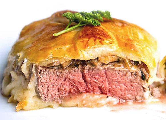 Truffle & Porcini Beef Wellington (Prime Filet) ~ Serves 4