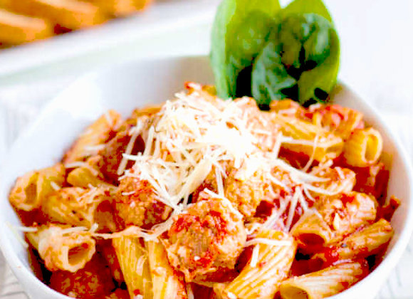 Penne Bolognese with Meat Balls ~ Serves 4
