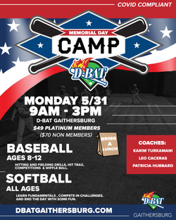 Memorial Day camp - Click to register