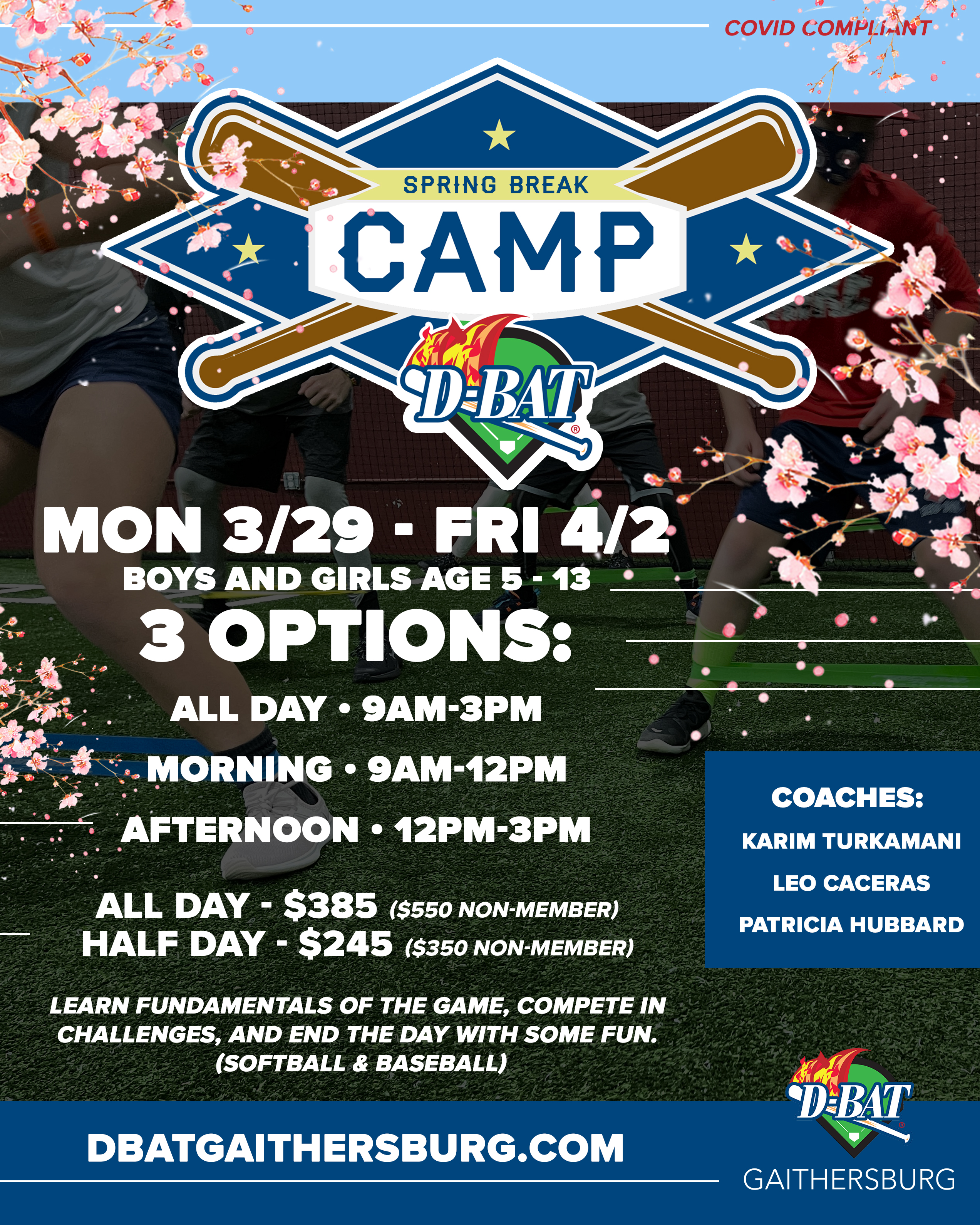 Spring Break Camp - Click to register