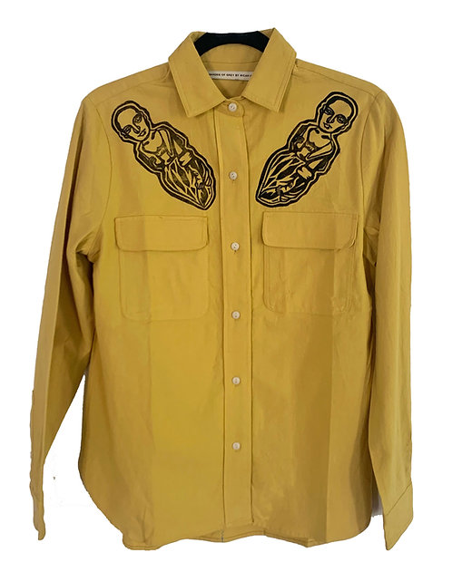 Yellow Checkmate Top