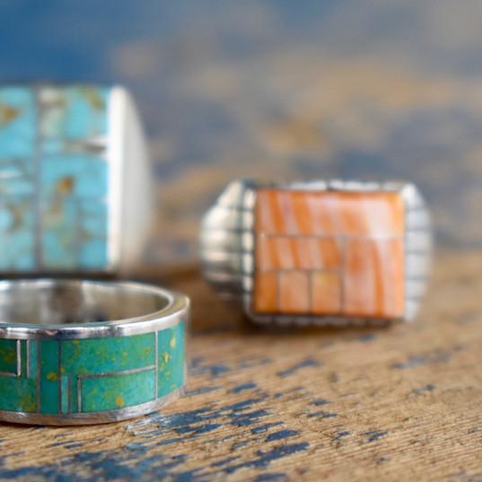 Mens Navajo Rings