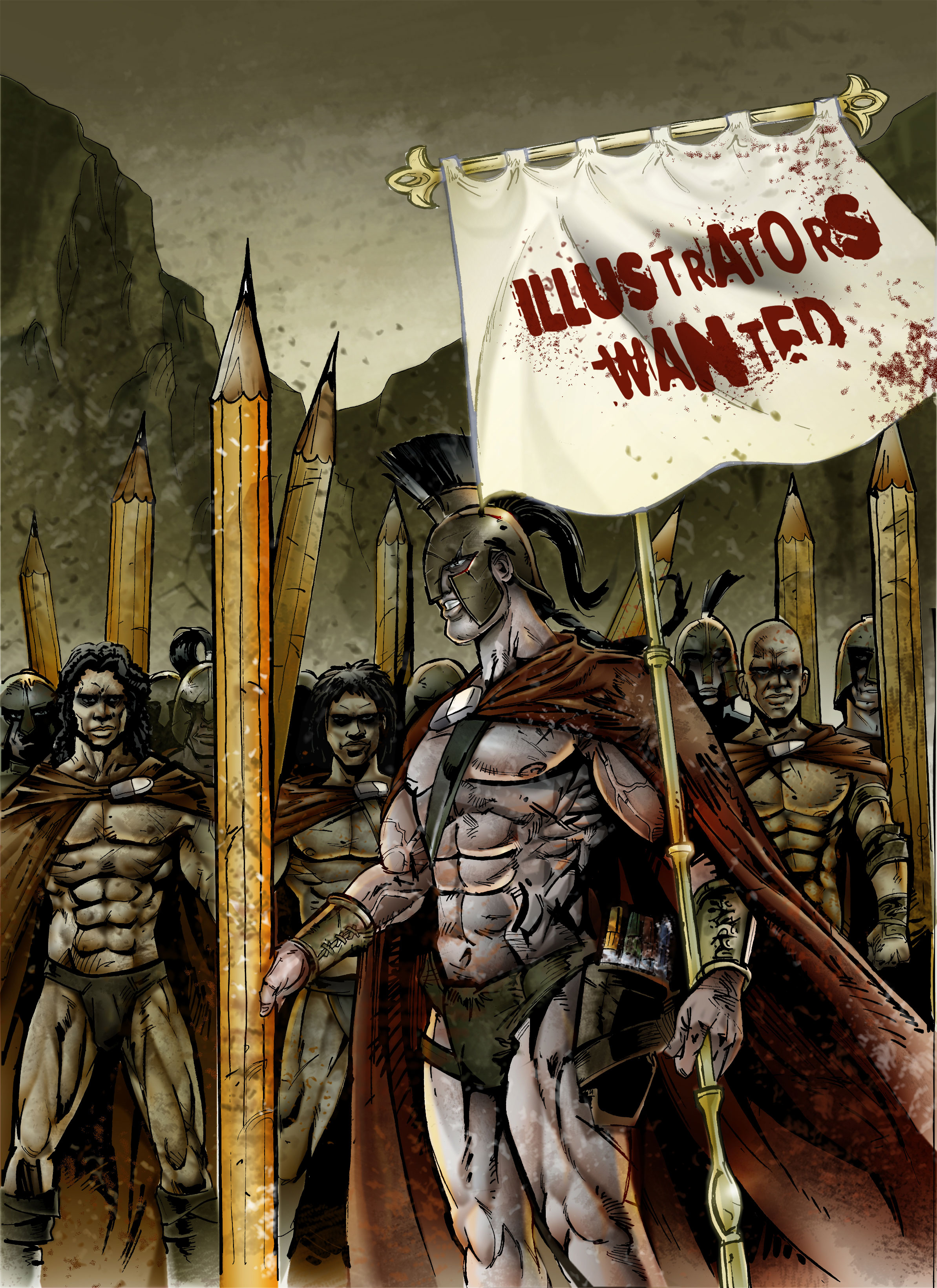 Illustrators wanted Poster
