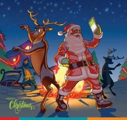 Diamond Bank Christmas Illustration