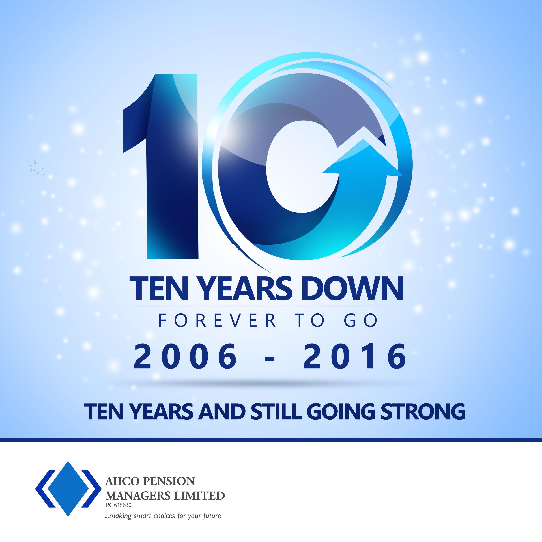 AIICO Pensions 10th Anniversary logo