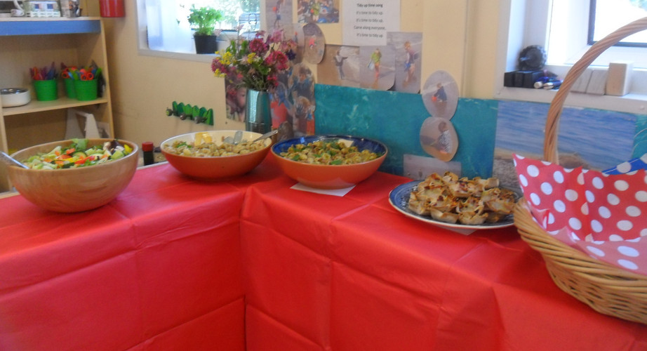 food chosen and prepared by the children