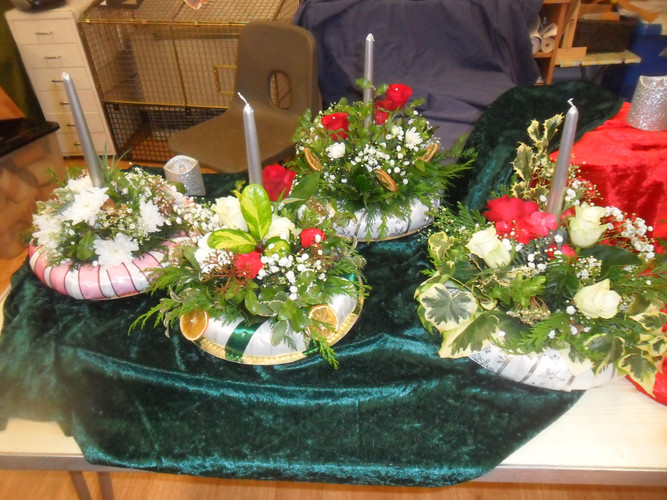 Christmas table decoration (adults made)