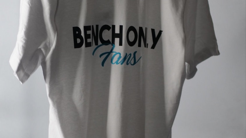 BENCH ONLY FANS LEFT CHEST AND BACK (white)