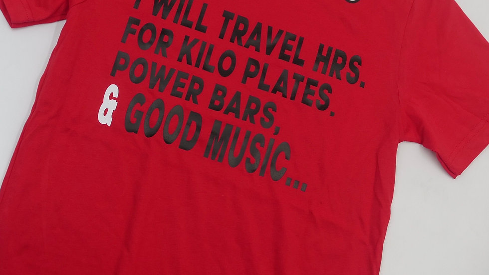 I WILL TRAVEL TEE RED