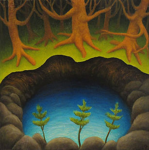 Laura Von Rosk Untitled - orange trees o