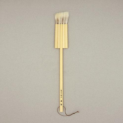 鹿毛入片羽連筆