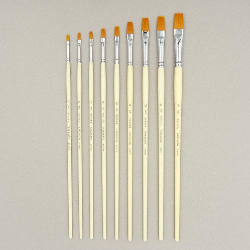 白軸ナイロン油彩筆  NF (平型)