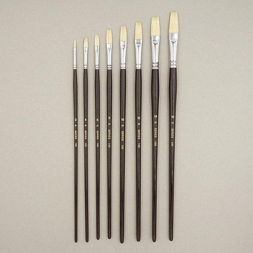 豚毛油彩筆 S100 (平型)