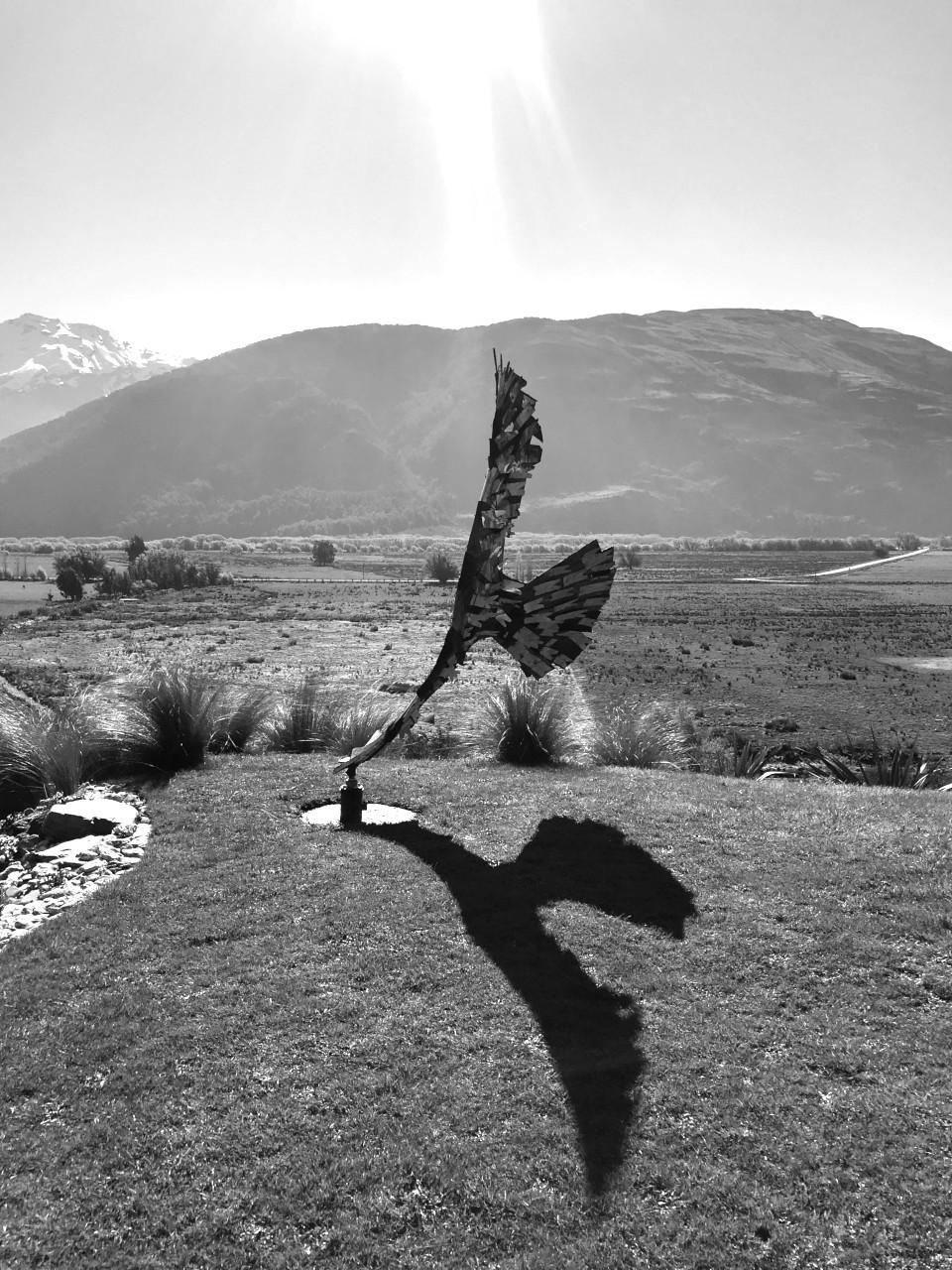 Dan Kelly Sculpture - Haast Eagle Wind Sculpture