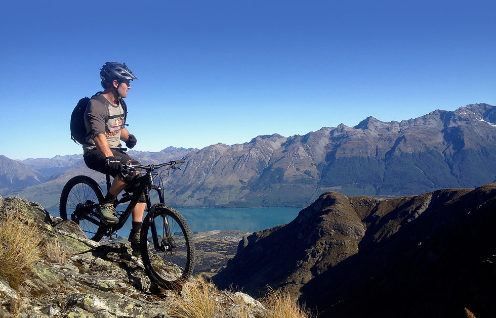 Kelly Hut Heli Biking