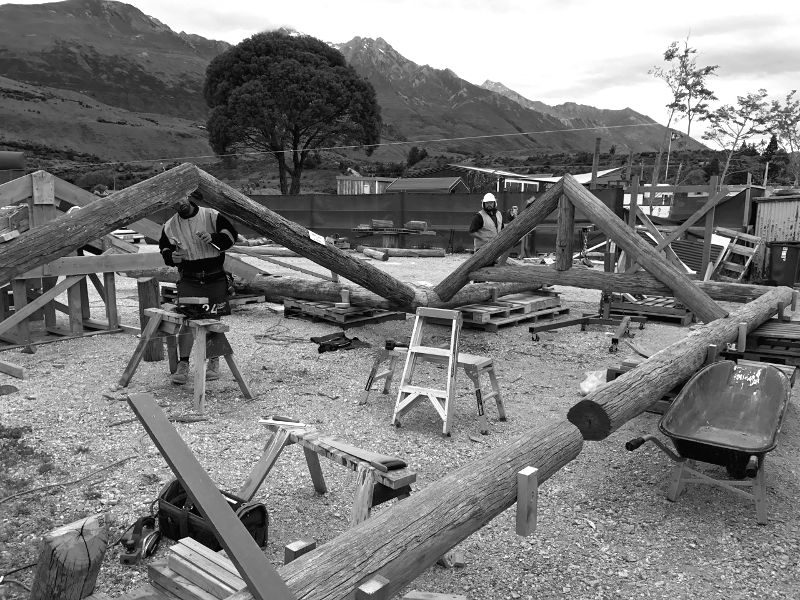 Dan Kelly Sculpture - GY Campground SHELTER building design commission