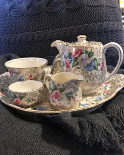 Time for tea with a rug on your knee!! There is a chill in the air so pop in to see beautiful tea wa