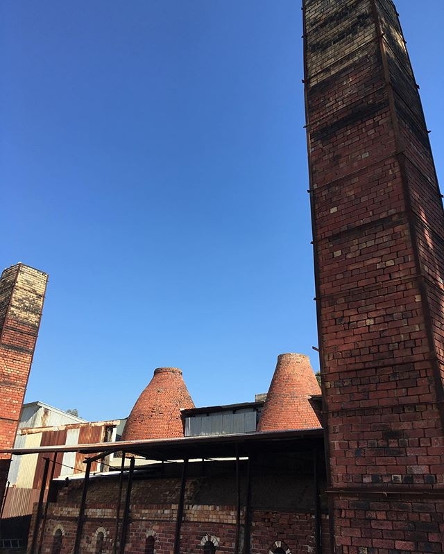 Kilns and chimneys @bendigopottery || #o