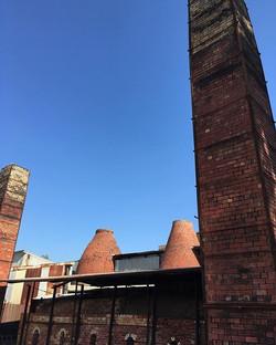 Kilns and chimneys @bendigopottery || #o