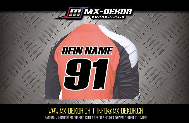 MX Shirt Transfer Druck zweifarbig