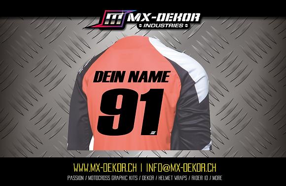 MX Shirt Transfer Druck einfarbig