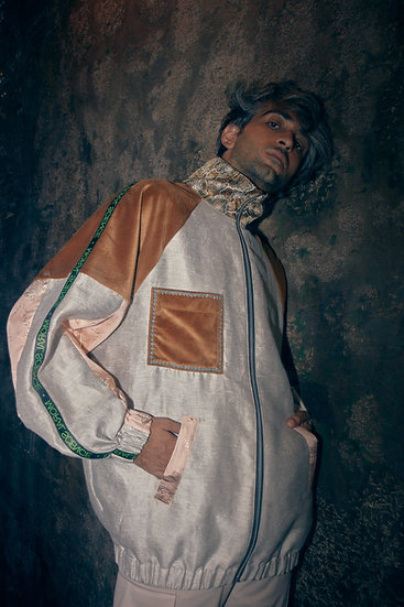 """""""Baroque"""" Hand embroidered Bomber Jacket"""