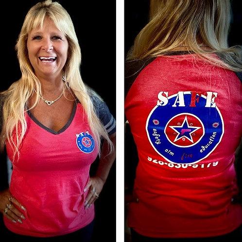Womens SAFE V-neck T-shirt