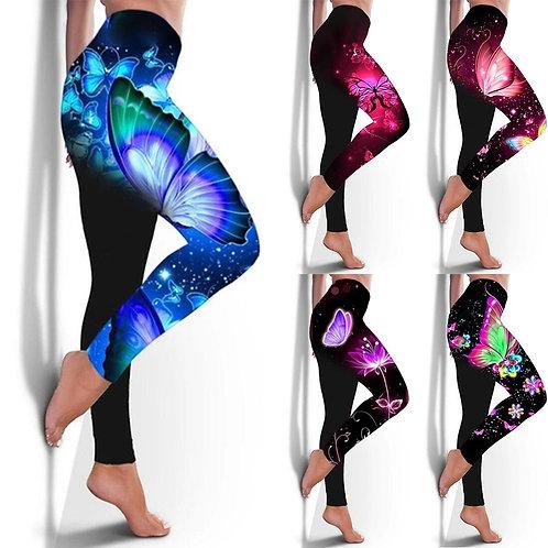 Leggings Women Seamless Sexy Slim Fitness Leggings Butterfly Print