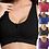 Thumbnail: Women Zipper Sports Bras Plus Size 5XL Wire free Padded Push Up Bra