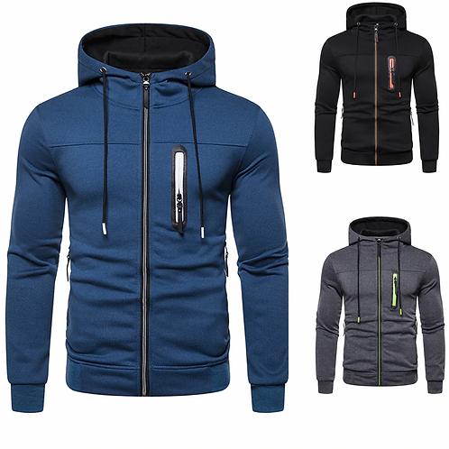 Fashion Hoodies Brand Men Personality Zipper