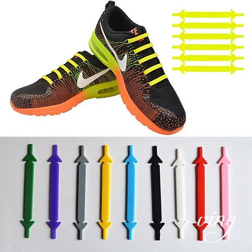 Silicone Shoelaces Elastic No Tie Shoe laces Fashion Leisure Sneakers