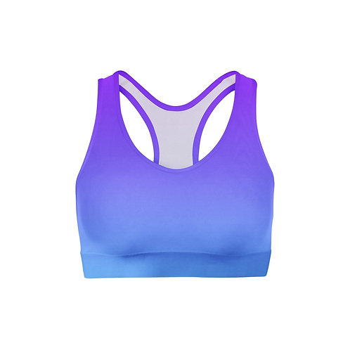 Purple Blue Ombre Sports Bra