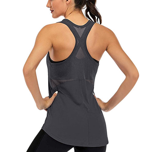 Solid Camis Vest Women Summer Workout Tank Tops Sleeveless Yoga Mesh
