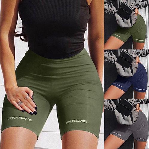 High Waist Fashion shorts women sexy biker shorts fitness