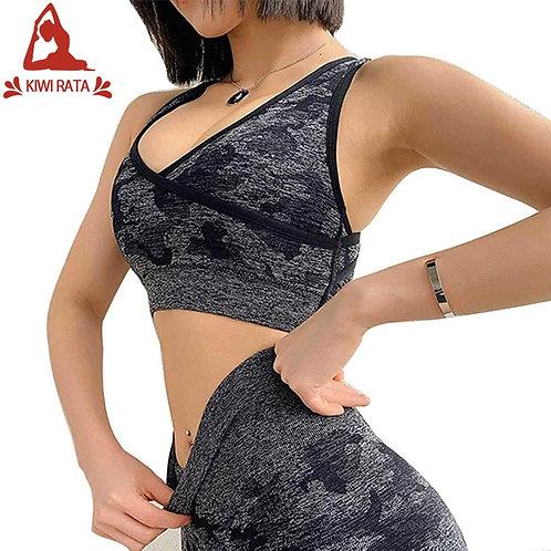 Seamless Women Yoga Set Workout Sportswear Gym Clothing
