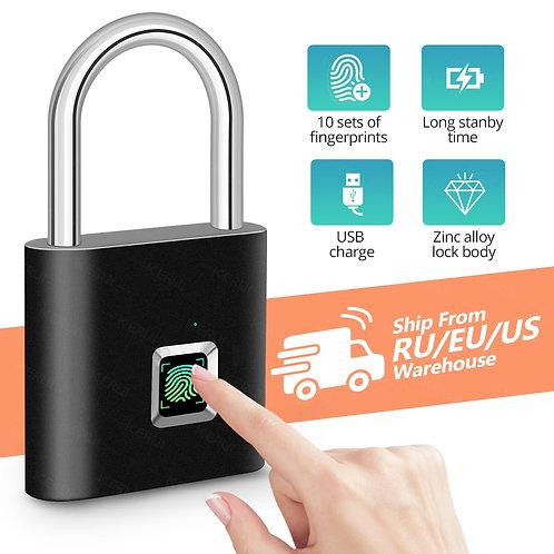 Waterproof USB Charging Fingerprint Lock Smart Padlock door lock