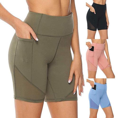 Leggings Women High Waist Short Abdomen Control Training Running