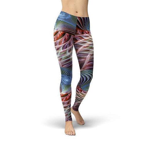 Jean Abstract Swirls Leggings