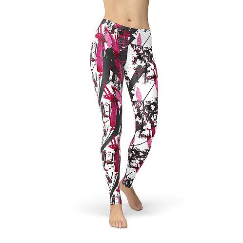 Jean Pink Charcoal Marker Leggings