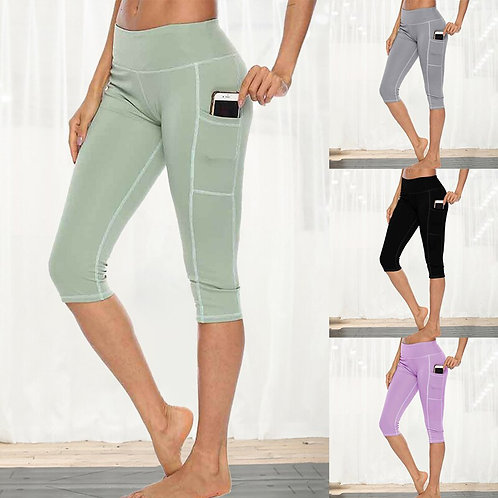 Workout Fitness Leggings With Side Pocket High Waist Running Pants
