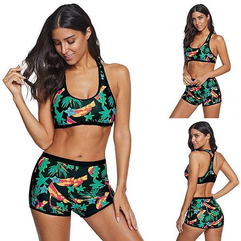 Women's Sexy Bikini Set Crop Top Sexy Female Swimwear Swimsuit