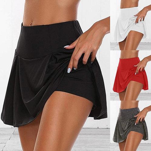 Sports Skirts Women's High Waist Pleated Short Dress Badminton